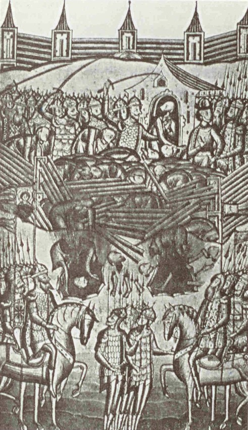 Prise de Kiev en 1240 - Miniature Russe
