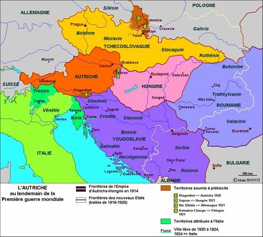 Carte Autriche Hongrie 1920