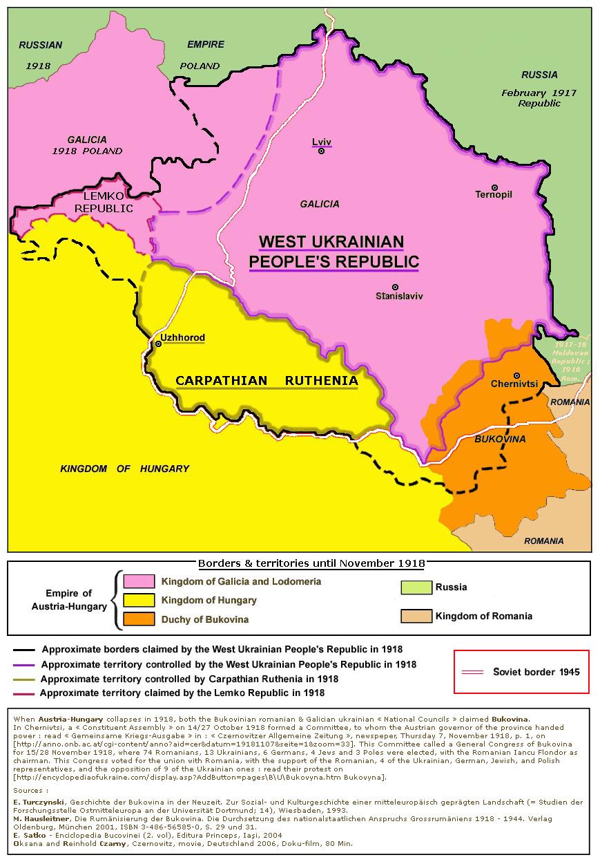 Ukraine Ouest en 1918