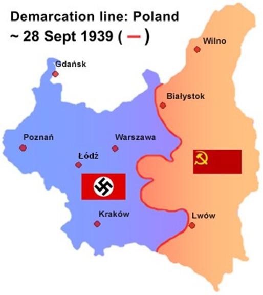 Partage de la Pologne en 1939