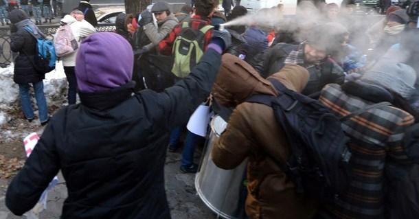 En 2012, Svoboda attaqua une manifestation pacifique en faveur des droits des homosexuels à Kiev