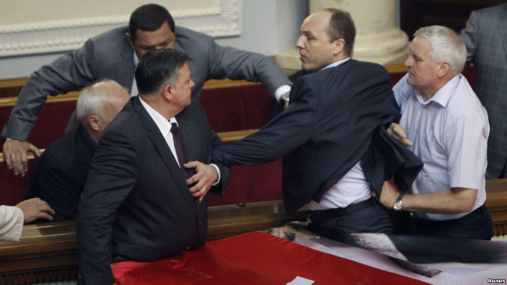 Parubiy au parlement