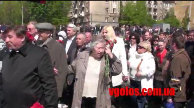 le 9 mai 2011 - (anniversaire de la fin de la guerre) - cérémonie avec les anciens combattants de la Seconde Guerre mondiale