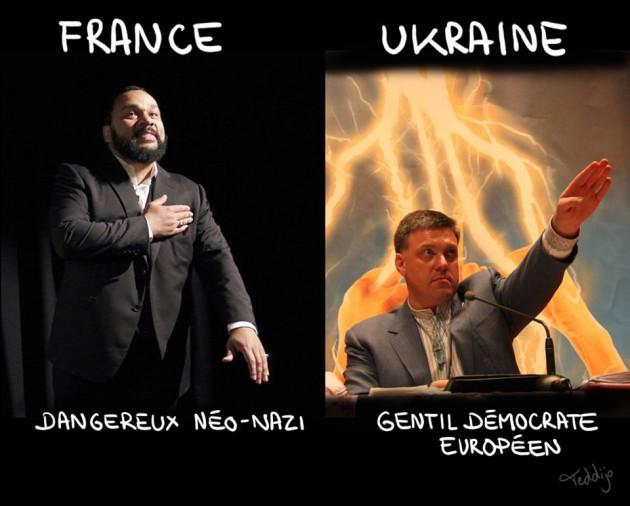 Affrontements en Ukraine : Ce qui est caché par les médias et les partis politiques pro-européens - Page 2 59-dieudonne-facho-ukraine