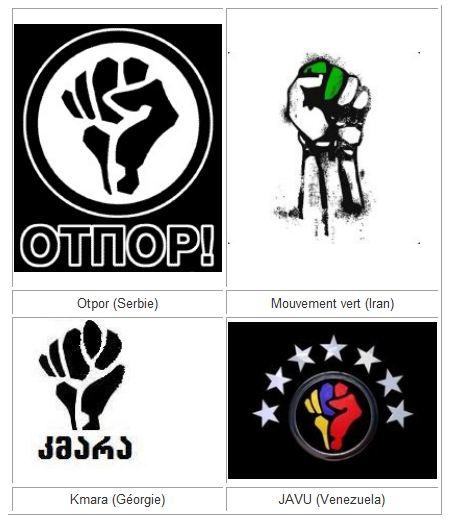 Affrontements en Ukraine : Ce qui est caché par les médias et les partis politiques pro-européens - Page 2 78-logos-revolutions-colorees