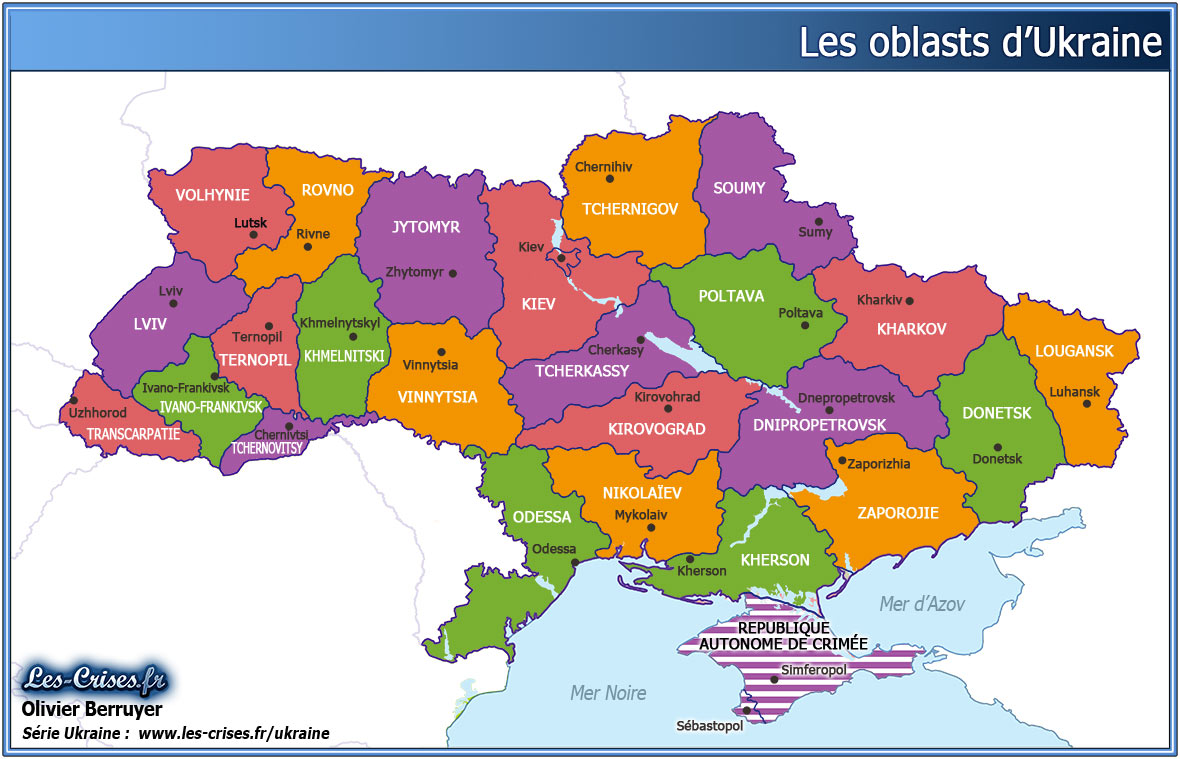 regions d'ukraine oblasts