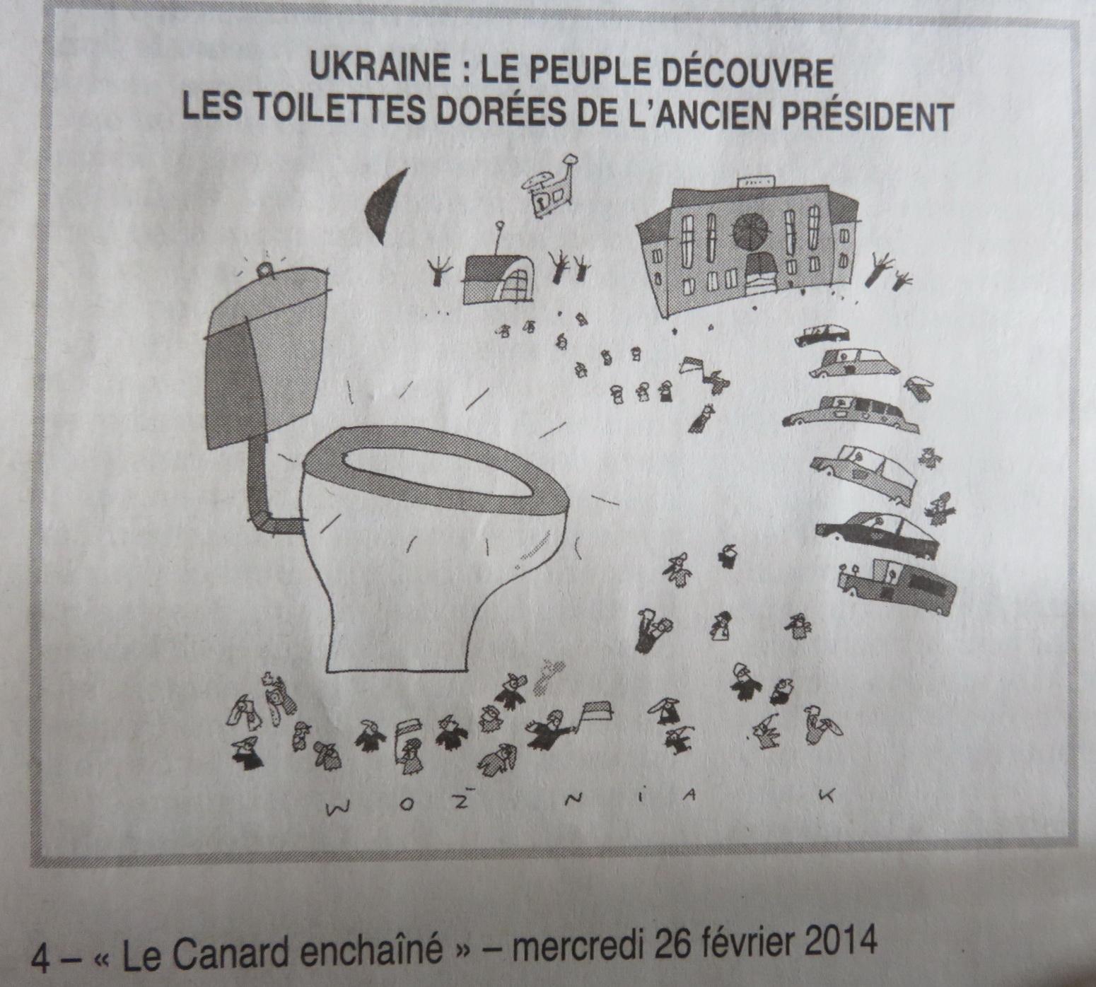canard enchaine ukraine 2014