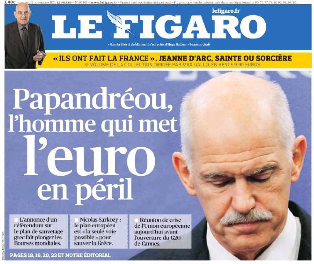Le figaro Papandreou