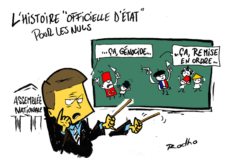 Dessin Cartoon génocide arménien france