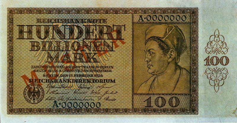 Billet 100 billions de marks 1923