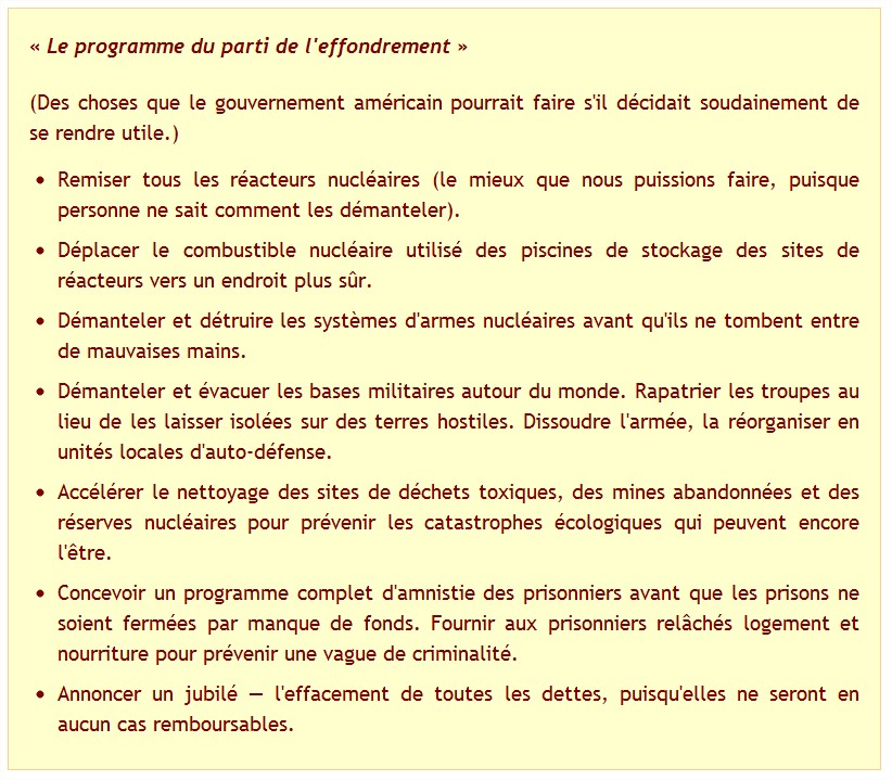 Combler le retard d'effondrement, par Dmitry Orlov