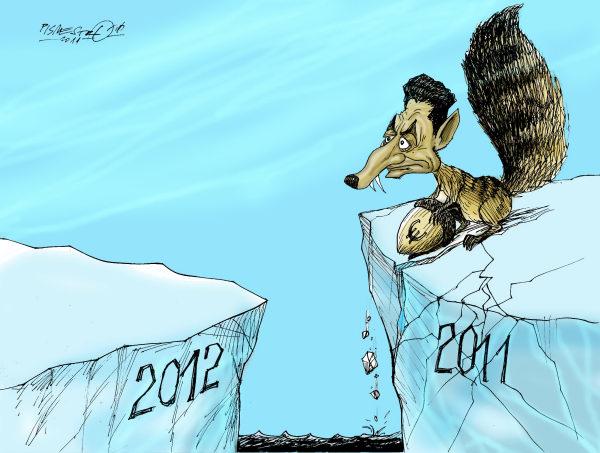 Dessins cartoons humour Bonne année 2012