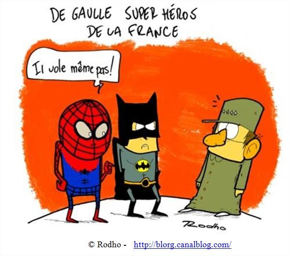 Dessin Humour De Gaulle Superhéros