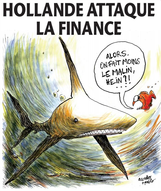 Dessin Humour Hollande Finance City