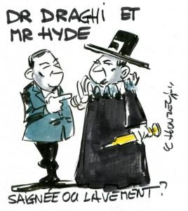 dessin humour cartoon mario draghi