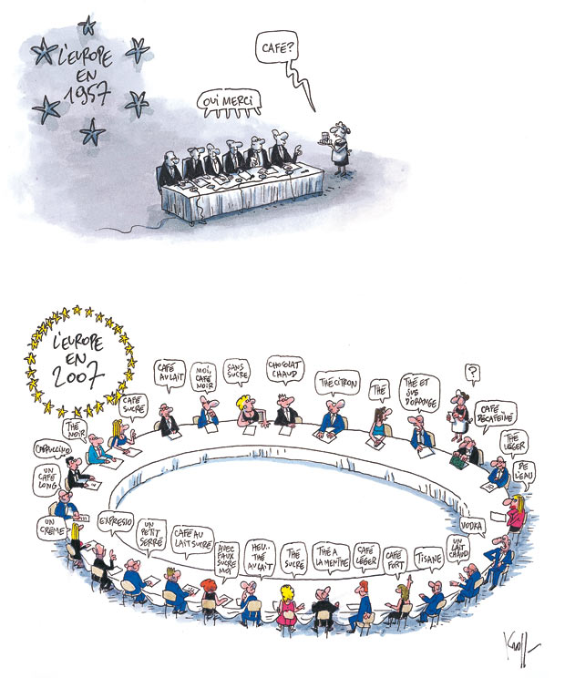 dessin humour cartoon europe sommet européen