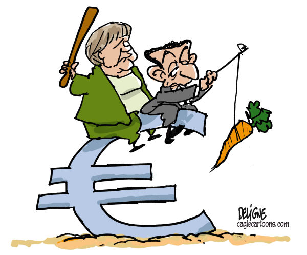 Dessin Cartoon merkel sarkozy merkozy