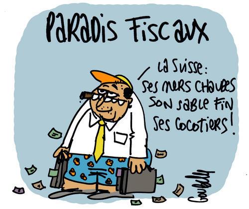 dessin humour cartoon fraude fiscale paradis fiscaux