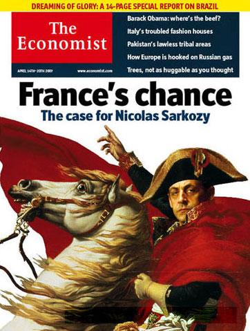 dessin humour cartoon sarkozy economist 2007