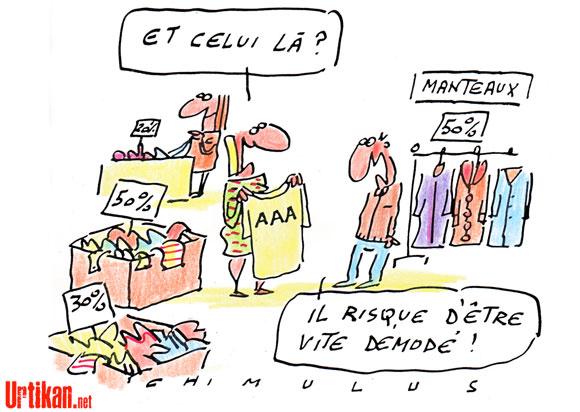 Dégradation 13 janvier 2012 perte triple a france