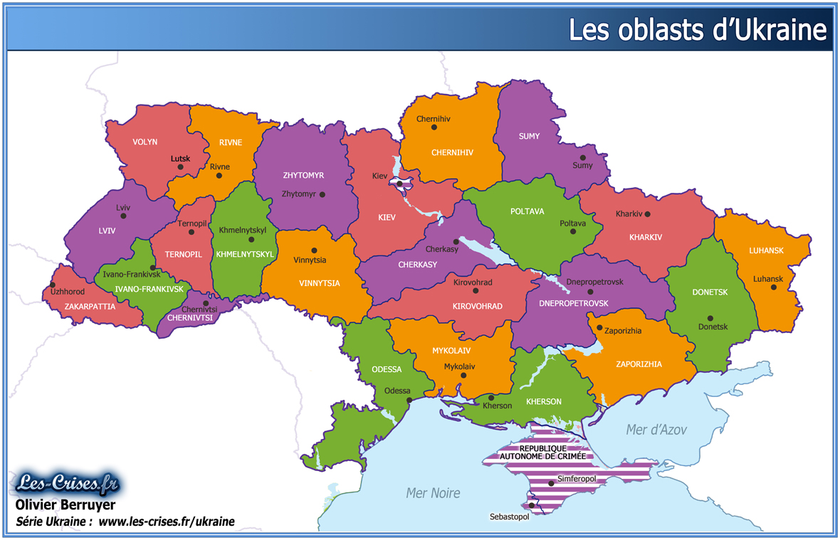 regions oblasts ukraine